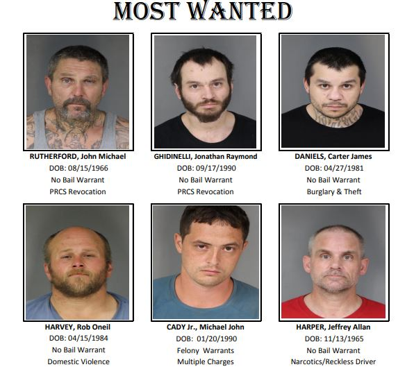 Humboldt County Sheriff's Office searches for six most