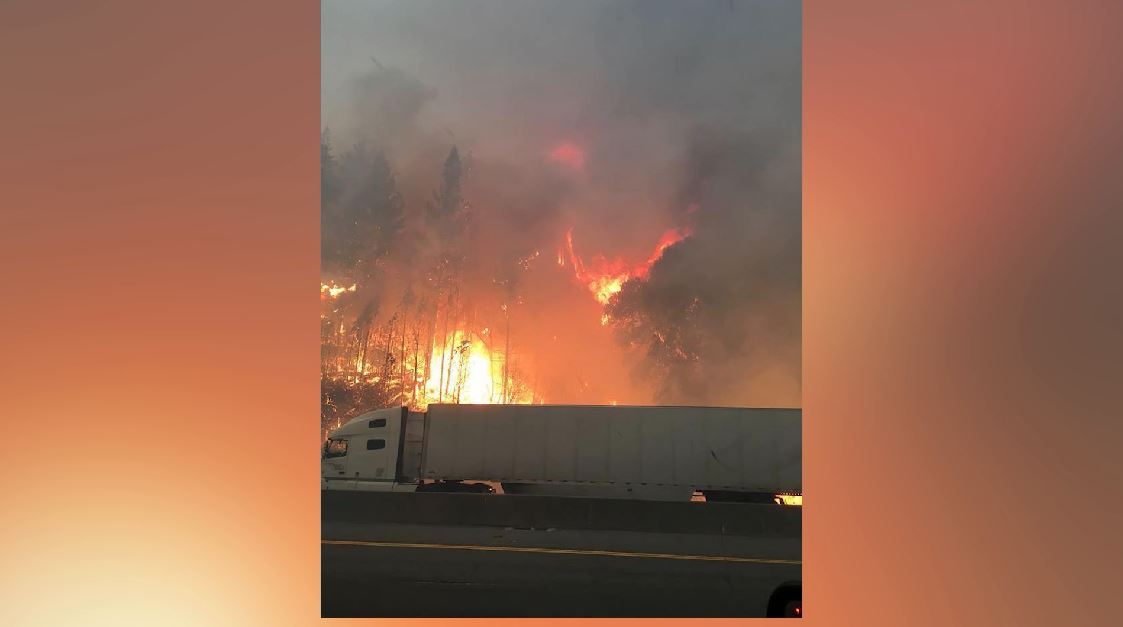 Delta Fire Shuts Down I-5, Snarling Traffic